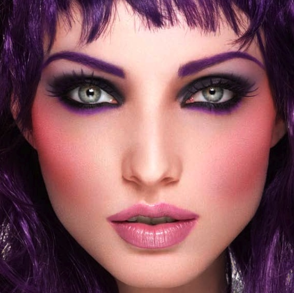 violet make up for ever