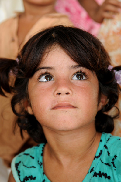 Girl taking part in psychosocial support session  - Pakistan