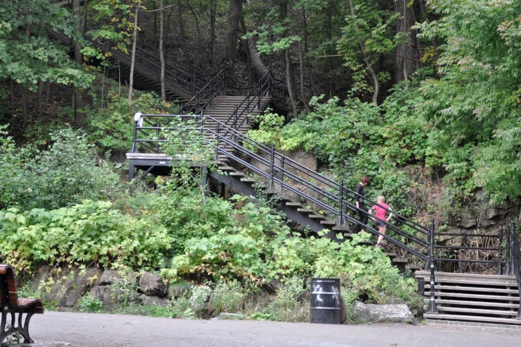Au début, on avait vu juste quelques escaliers....