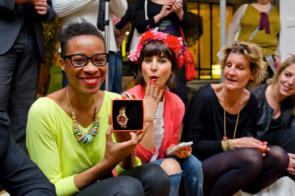 Valentine, Amélie, Anne-Claire et moi, on a une chouette bouille sur la photo (hein ?)