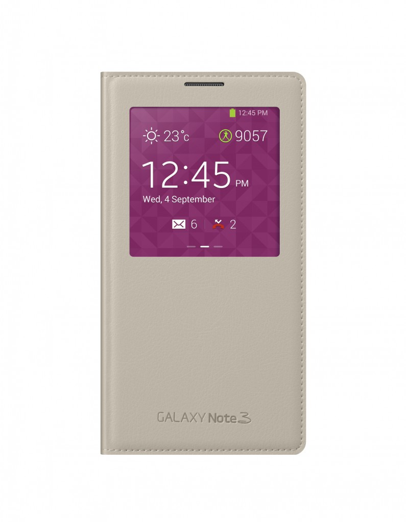 Galaxy Note3 S-view Cover_001_Front_Oatmeal Beige