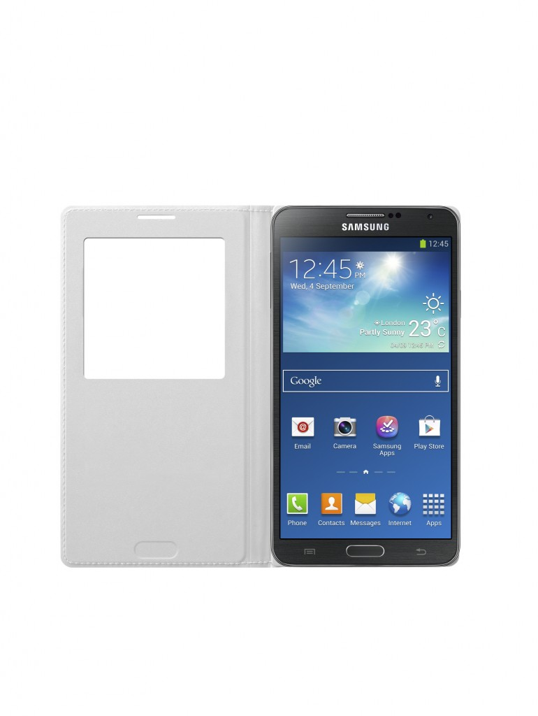 Galaxy Note3 S-view Cover_002_Front open_Classic White