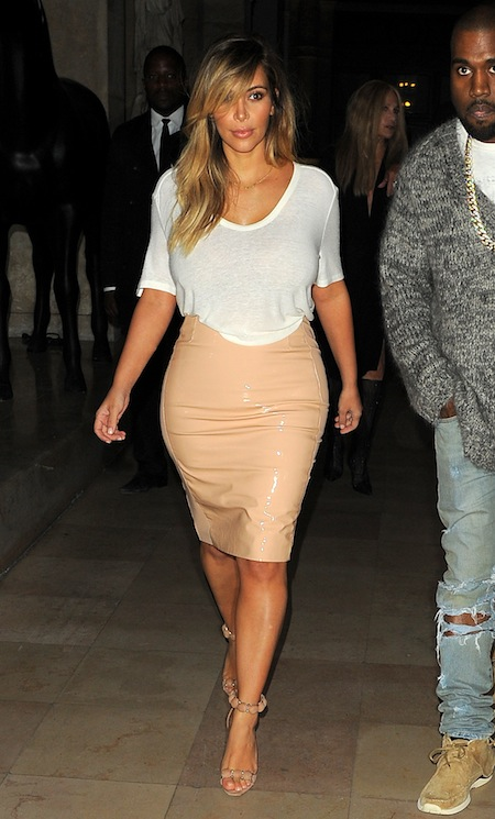 Kim Kardashian and Kanye go out for dinner