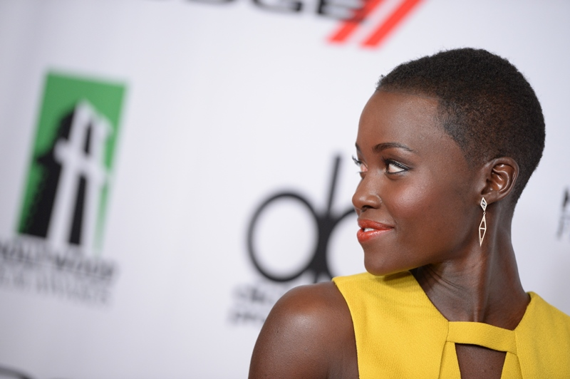 Actress Lupita Nyong'o arrives for the the 17th Annual Hollywood Film Awards Gala, October 21, 2013 at the Beverly Hilton Hotel in Beverly Hills, California  AFP PHOTO / Robyn Beck        (Photo credit should read ROBYN BECK/AFP/Getty Images)