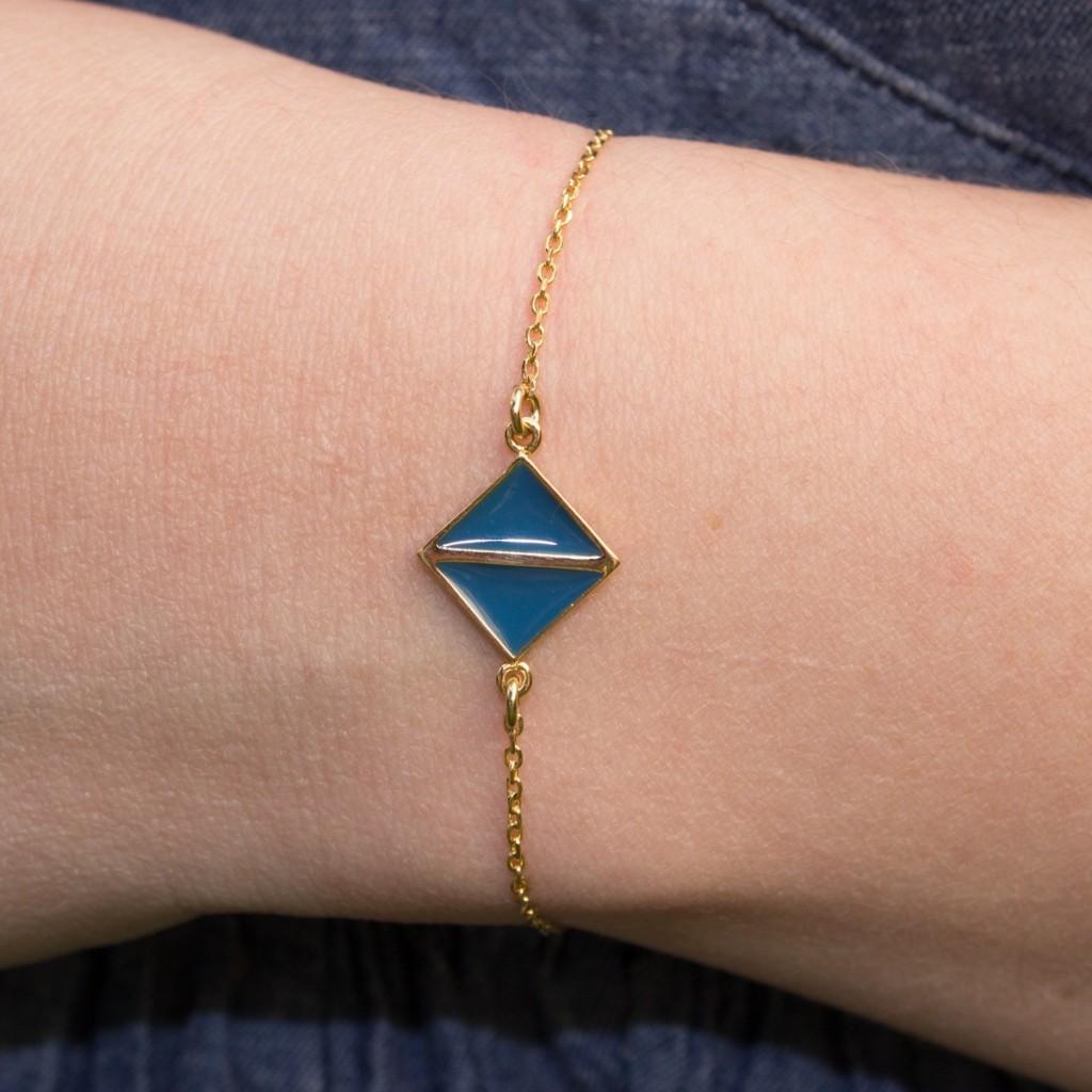 bracelet-plaqué-or-art-déco-bleu-touareg-l-atelier-d-olivia