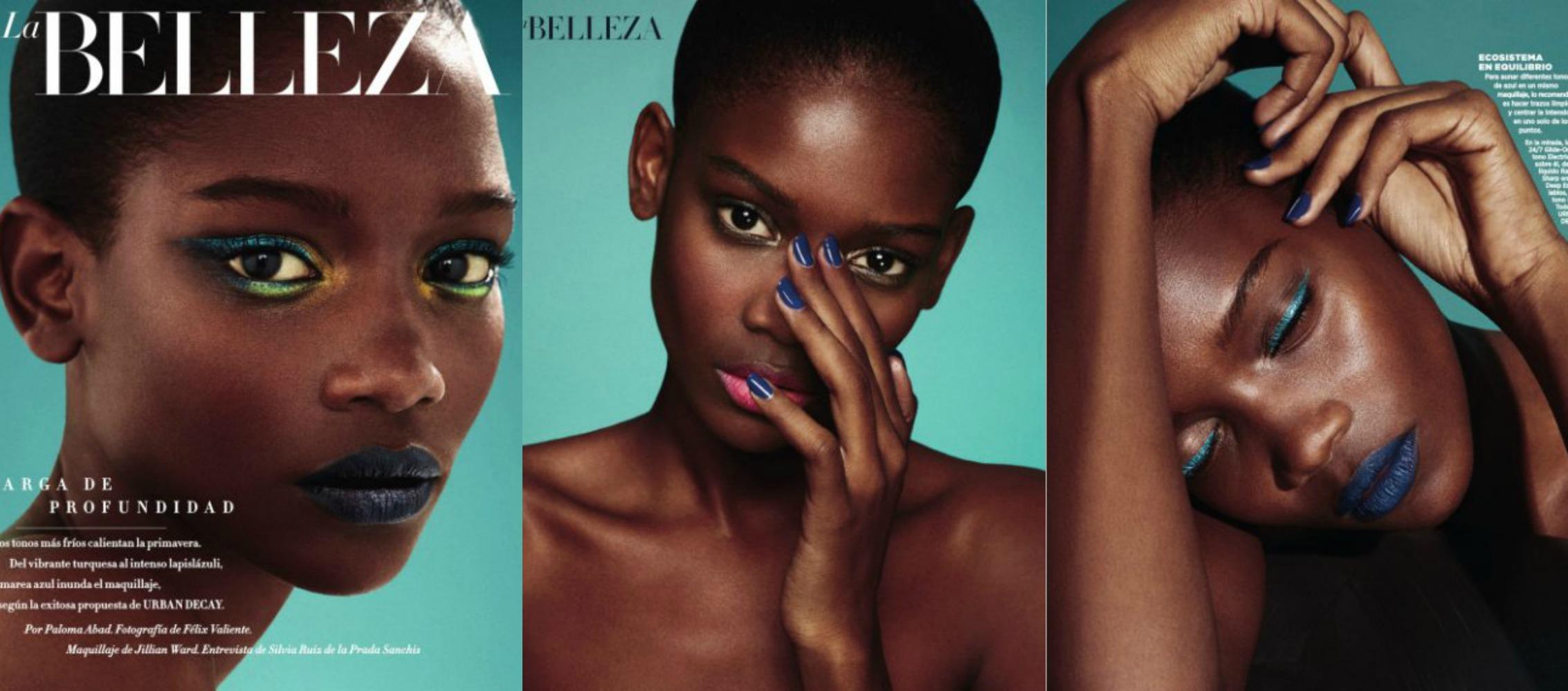 Inspiration maquillage - Peau noire et métissée : le bleu
