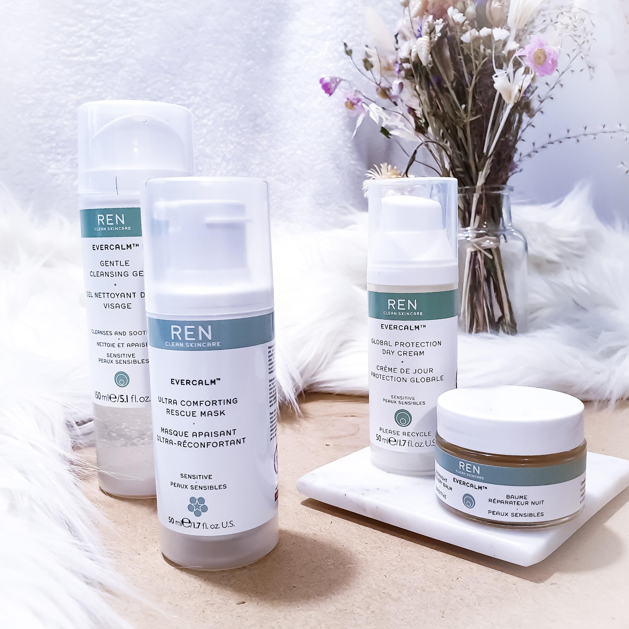 Test et avis - REN Skincare : La gamme Evercalm pour peau sensible